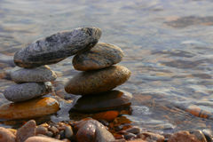 Πυραμίδα πετρών Στοκ φωτογραφίες με δικαίωμα ελεύθερης χρήσης