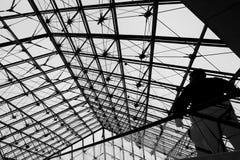Πυραμίδα του Λούβρου, εσωτερική Στοκ Εικόνες