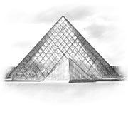Πυραμίδα 2007 france june louvre museum paris Παρίσι Στοκ Φωτογραφία