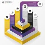 Πυραμίδα infographic έννοια σύγχρονο πρότυπο σχεδίο&upsil διάνυσμα Στοκ εικόνα με δικαίωμα ελεύθερης χρήσης