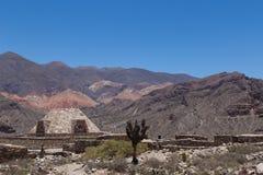 Πυραμίδα Pucara de Tilcara στοκ εικόνα