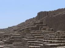 Πυραμίδα Pucllana Huaca σε Miraflores, Λίμα Στοκ Εικόνες