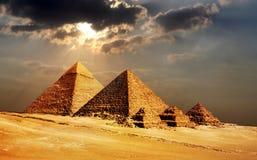 Πυραμίδες Giza, Κάιρο, Αίγυπτος Στοκ Φωτογραφία