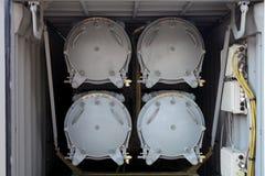 Πυραυλικό σύστημα εμπορευματοκιβωτίων Στοκ εικόνα με δικαίωμα ελεύθερης χρήσης