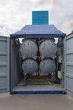Πυραυλικό σύστημα εμπορευματοκιβωτίων Στοκ φωτογραφία με δικαίωμα ελεύθερης χρήσης