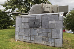 Πυργίσκος μιας δεξαμενής Sherman σε Hotton Στοκ Εικόνα