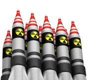 Πυρηνικές βόμβες με το εικονίδιο ακτινοβολίας Στοκ Εικόνες
