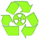 πυρηνική ανακύκλωση Στοκ φωτογραφία με δικαίωμα ελεύθερης χρήσης