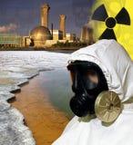 Πυρηνική βιομηχανία - ρύπανση - τοξικά απόβλητα Στοκ Εικόνες