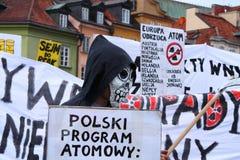 πυρηνική διαμαρτυρία Στοκ εικόνες με δικαίωμα ελεύθερης χρήσης
