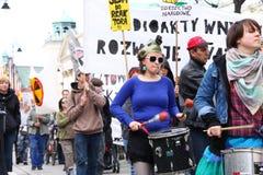πυρηνική διαμαρτυρία Στοκ εικόνα με δικαίωμα ελεύθερης χρήσης