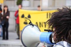 πυρηνική διαμαρτυρία Στοκ Φωτογραφία