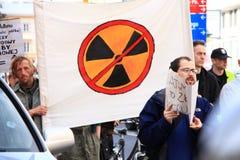 πυρηνική διαμαρτυρία Στοκ Εικόνες