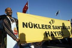 πυρηνική διαμαρτυρία Στοκ φωτογραφία με δικαίωμα ελεύθερης χρήσης