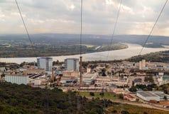 Πυρηνική ενέργεια και περιβάλλον Στοκ Εικόνες