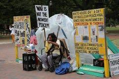 Πυρηνική διαμαρτυρία βομβών μπροστά από το Λευκό Οίκο Στοκ Εικόνες