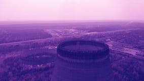 Πυρηνικός σταθμός του Τσέρνομπιλ, τονισμένο βίντεο χρώματος απόθεμα βίντεο