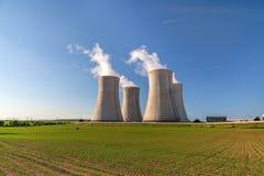 Πυρηνικός σταθμός Dukovany στη Δημοκρατία της Τσεχίας Ευρώπη Στοκ φωτογραφίες με δικαίωμα ελεύθερης χρήσης