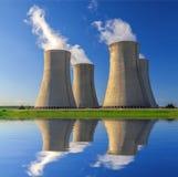 Πυρηνικός σταθμός Dukovany στη Δημοκρατία της Τσεχίας Ευρώπη Στοκ Εικόνες