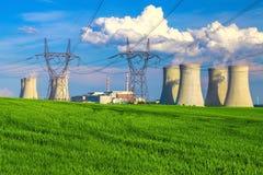 Πυρηνικός σταθμός Dukovany στη Δημοκρατία της Τσεχίας Ευρώπη Στοκ φωτογραφία με δικαίωμα ελεύθερης χρήσης