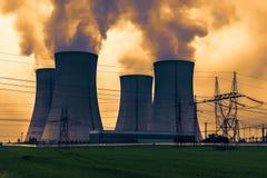 Πυρηνικός σταθμός Dukovany στη Δημοκρατία της Τσεχίας Ευρώπη Στοκ Φωτογραφία