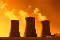 Πυρηνικός σταθμός Dukovany στη Δημοκρατία της Τσεχίας Ευρώπη Στοκ εικόνα με δικαίωμα ελεύθερης χρήσης