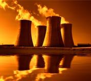 Πυρηνικός σταθμός Dukovany στη Δημοκρατία της Τσεχίας Ευρώπη Στοκ Φωτογραφίες