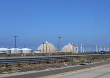 Πυρηνικός σταθμός SAN Onofre στοκ φωτογραφίες