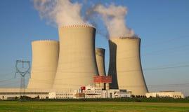 Πυρηνικός σταθμός Temelin στη Δημοκρατία της Τσεχίας Ευρώπη Στοκ Φωτογραφία