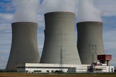 Πυρηνικός σταθμός Temelin στη Δημοκρατία της Τσεχίας Ευρώπη Στοκ φωτογραφίες με δικαίωμα ελεύθερης χρήσης