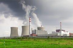 Πυρηνικός σταθμός Temelin στη Δημοκρατία της Τσεχίας Ευρώπη Στοκ Εικόνες