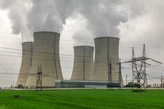 Πυρηνικός σταθμός Temelin στη Δημοκρατία της Τσεχίας Ευρώπη Στοκ φωτογραφία με δικαίωμα ελεύθερης χρήσης