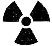 Πυρηνικό ακτινοβολίας σχέδιο Doodle χεριών συμβόλων διανυσματικό Στοκ εικόνα με δικαίωμα ελεύθερης χρήσης