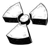 Πυρηνικό ακτινοβολίας σχέδιο Doodle χεριών συμβόλων διανυσματικό Στοκ Εικόνες