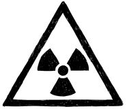 Πυρηνικό ακτινοβολίας σχέδιο Doodle χεριών συμβόλων διανυσματικό Στοκ φωτογραφία με δικαίωμα ελεύθερης χρήσης