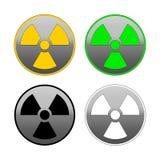 Πυρηνικό εικονίδιο χρωμίου Τέσσερις παραλλαγές χρώματος ελεύθερη απεικόνιση δικαιώματος