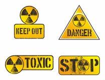 Πυρηνικό σημάδι κινδύνου Στοκ Εικόνες