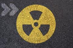 πυρηνικό σημάδι Στοκ Εικόνα