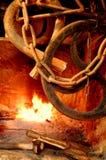 πυρκαγιά αλυσίδων Στοκ Εικόνες