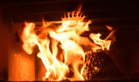 Πυρκαγιά από την εστία Στοκ Εικόνες