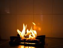 Πυρκαγιά από το αέριο Στοκ φωτογραφία με δικαίωμα ελεύθερης χρήσης
