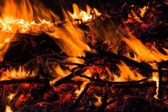 Πυρκαγιά, δασική πυρκαγιά Στοκ φωτογραφία με δικαίωμα ελεύθερης χρήσης