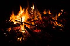 Πυρκαγιά, δασική πυρκαγιά Στοκ φωτογραφίες με δικαίωμα ελεύθερης χρήσης
