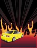 πυρκαγιά αυτοκινήτων κίτρ ελεύθερη απεικόνιση δικαιώματος