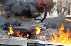 πυρκαγιά αυτοκινήτων στοκ εικόνες με δικαίωμα ελεύθερης χρήσης