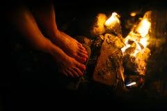 Πυρκαγιά γυναικών Στοκ Φωτογραφίες