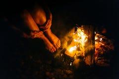 Πυρκαγιά γυναικών Στοκ Εικόνα