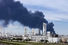 Refinery Fire in Houston Texas
