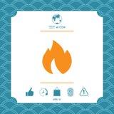 Πυρκαγιά, εικονίδιο φλογών ελεύθερη απεικόνιση δικαιώματος