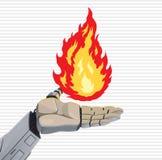 Χέρι πυρκαγιάς ρομπότ διανυσματική απεικόνιση